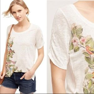 Meadow Rue | Beach Blossom linen tee